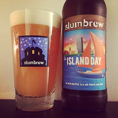 Slumbrew Island Day Poured