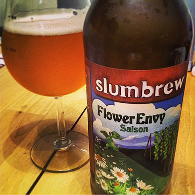 Slumbrew Flower Envy In Wine Glass