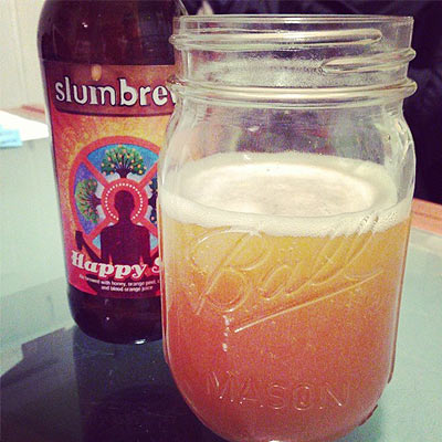 Slumbrew Happy Sol in Mason Jar