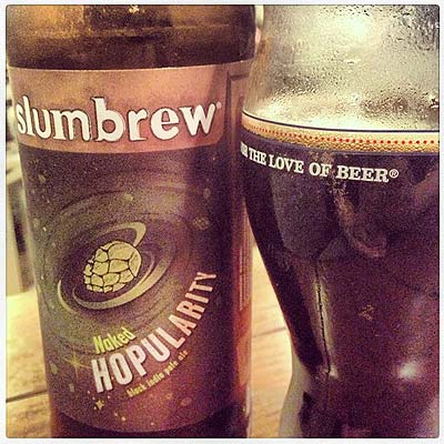 Slumbrew Hopularity The Love of Beer Glass