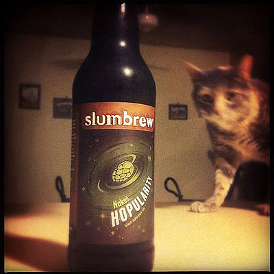 Slumbrew Hopularity and Cat