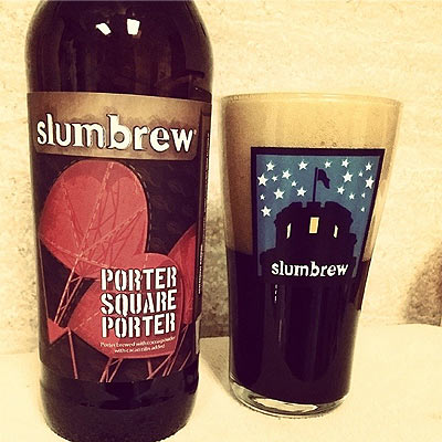 Slumbrew Porter Square Porter Poured Half Head