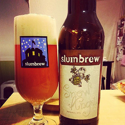 Slumbrew Snow Angel Poured Stem Glass