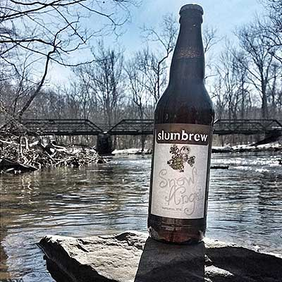 Slumbrew Snow Angel Above River