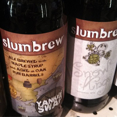 Slumbrew Snow Angel & Yankee Swap Bottles