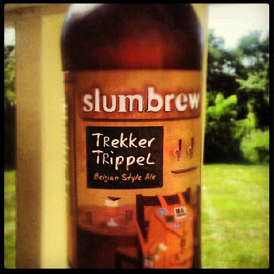Slumbrew Trekker Trippel on Porch