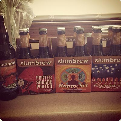 Slumbrew Porter, Flag, Sol and Lobstah