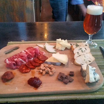 Charcuterie Board with Beer